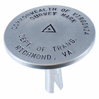Concrete Survey Markers in Aluminum