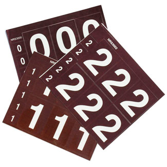 Carsonite Letter & Number Decal Sheets