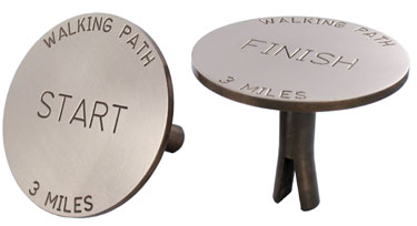 Berntsen Metal Trail & Path Markers for Concrete