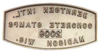 Bronze concrete name stamp