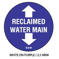Damage Prevention and Locating Marker - Reclaimed Water Main