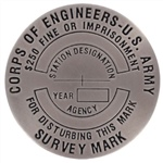 USCOE Survey Marker