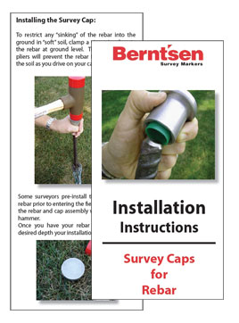 **CLICK HERE** for Berntsen Installation Instructions - Survey Caps for Rebar
