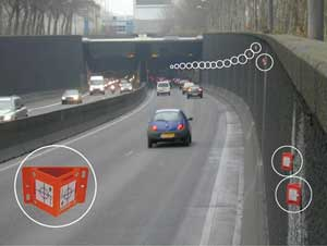 Reflective survey targets can be used for monitoring highways