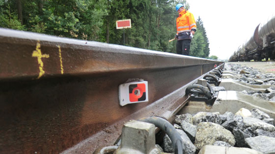 Rail Surveying Targets for monitoring voids under the tracks
