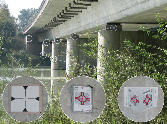 Reflective Survey Targets can be used in a wide variety of positions on all construction projects.