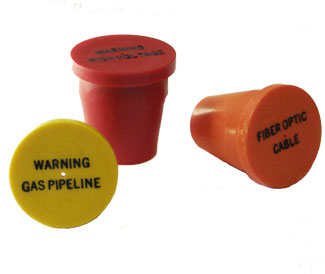 Plastic Utility identifiaction markers for rebar & pipe.