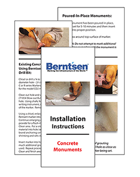 Berntsen concrete installation instructions