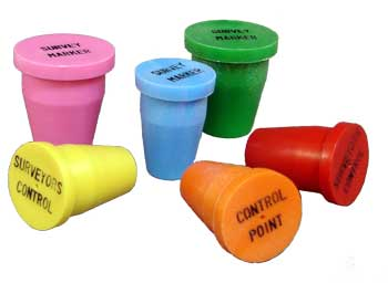 ** New from Berntsen **  Plastic Survey Caps w/ black lettering
