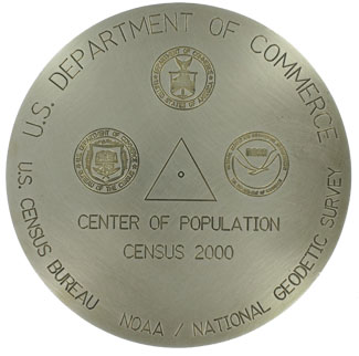 2000 Center of Population Marker