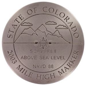 Denver Colorado Mile High Marker