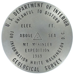 Mount McKinley Survey Marker